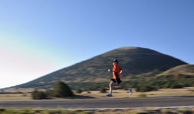 Capulin Volcano, runner, Capulin Volcano Run