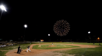 Fireworks over baseball game - Raton Osos 4th of July