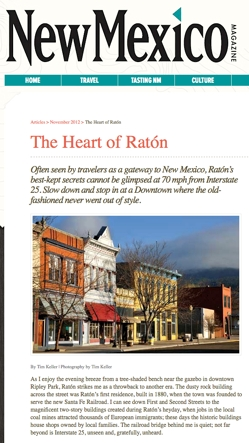 Raton in New Mexico Magazine