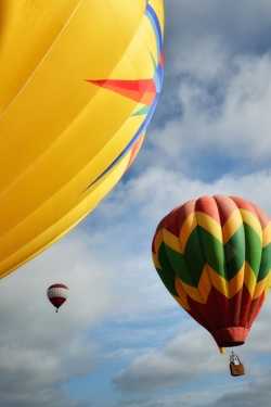 Hot-air balloons over Raton, NM by Tim Keller