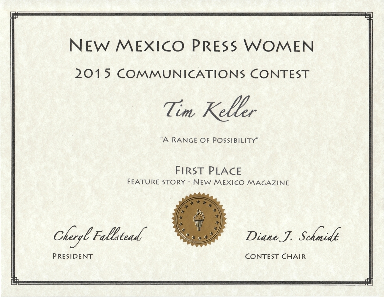 New mexico lea county eunice - Nmpw Best Magazine Feature 2014 To Tim Keller