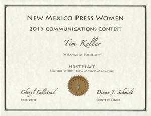 NMPW Best Magazine Feature 2015 Tim Keller