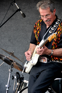 George Tomsco at Albuquerque Centennial Summerfest, The Fireballs, photo by Tim Keller