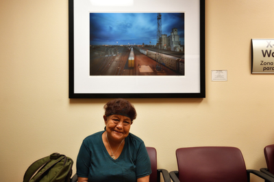 """Clovis Train Yard"" Tim Keller photograph at UNM Hospital Orthopaedic Clinic"