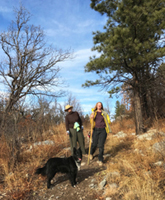 Helen Boyce and Christina Boyce, mother-daughter hike, Sugarite Canyon