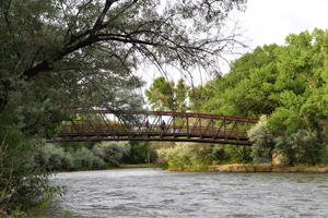 Berg Park, Farmington, bridge over the Animas River