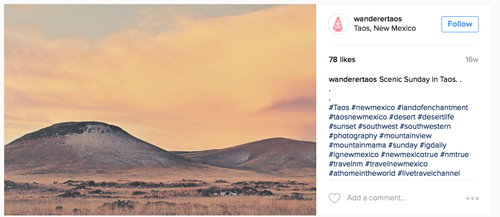 Wanderer Taos - Instagram with Tim Keller Photography image