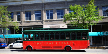 Trinidad Trolley stops at A.R. Mitchell Museum of Western Art
