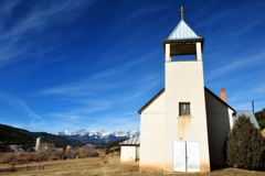 Catholic church on Highway of Legends, Colorado
