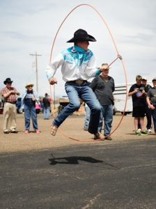 Brice Chapman, trick roper at National Folk Festival, Tim Keller Photography
