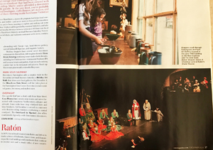 """A Christmas Carol"" at Raton's Shuler Theater, photo by Tim Keller in New Mexico Magazine, Dec 2016"
