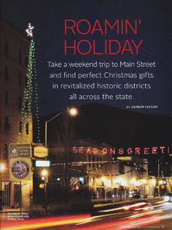 Downtown Raton Main Street Christmas in New Mexico Magazine, Dec 2016, by Tim Keller