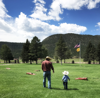 Father and son at Vermejo Park Ranch