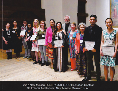 2017 New Mexico Poetry Out Loud - book, photos by Tim Keller