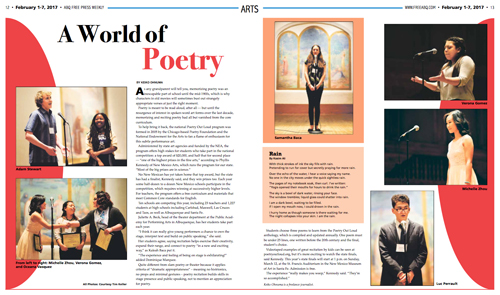New Mexico Poetry Out Loud in ABQ Free Press, photos by Tim Keller