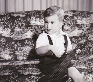Terry R. Keller, guitarist at age 2