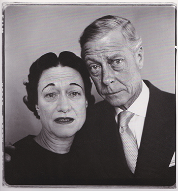 Duke & Duchess of Windsor, portrait by Richard Avedon, NYC 1957