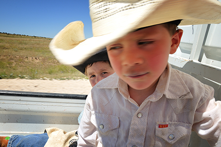 Brothers on Brown Ranch, Folsom NM, by Tim Keller