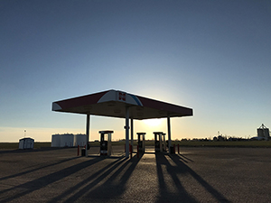 Cenex Fuel Stop, rural Kansas, by Tim Keller