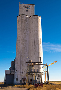 Grain elevator at Saunders, Kansas