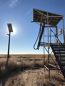 Abandoned solar power station at Saunders, Kansas, by Tim Keller