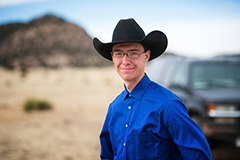Cole Lewis portrait, Brown Ranch, Folsom NM, 2018