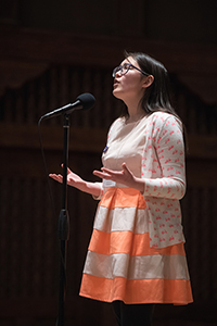 Arin Meis performs at NM Poetry Out Loud 2018, Santa Fe