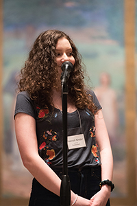 Hannah Binder performs at NM Poetry Out Loud 2018, Santa Fe