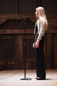 Lizzy Enos at NM Poetry Out Loud 2018