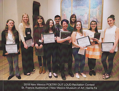 NM Poetry Out Loud 2018 book