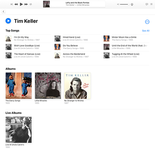 Tim Keller, New Mexico singer-songwriter on Apple Music and other streaming services
