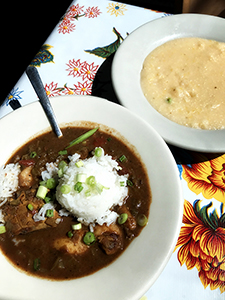 Gumbo and grits at Elizabeth's, Bywater, NOLA