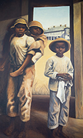 Slave boys painting, Whitney Plantation, Louisiana