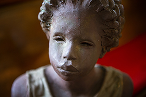 Slave girl sculpture at Whitney Plantation, Louisiana