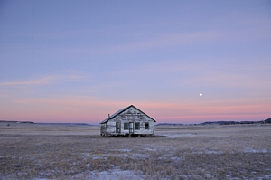 "Mitchell Museum, Trinidad, Colorado, ""Lonely House with Moon"""