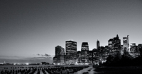 Nightfall - Lower Manhattan from Brooklyn Bridge Park