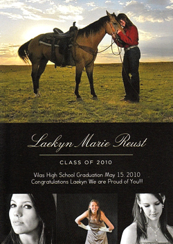 Laekyn Reust Graduation Announcement