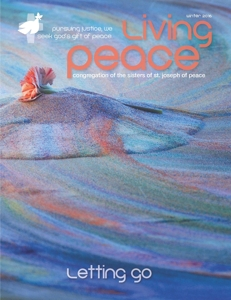 Living Peace magazine cover, photo by Tim Keller