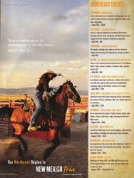 New Mexico True ad, photo by Tim Keller of Marcia Hefker roping