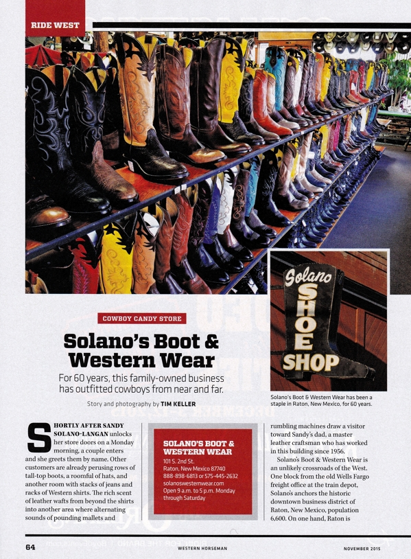 90e85654f0c Solano s - Cowboy Candy Store - Western Horseman